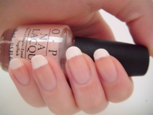 French manicure with OPI